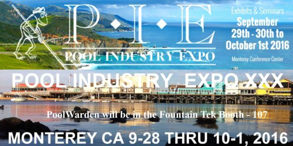 Pie pool industry expo monterey spa chlorine generators for Pool show monterey